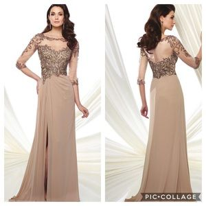 Montage by Mon Cheri half sleeves gown